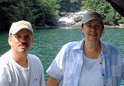 Carol and Doug on Lake Jocassee near the Whitewater River